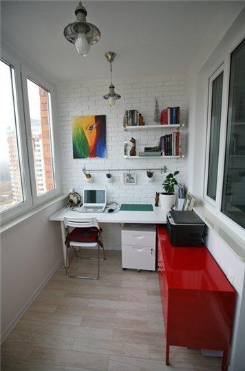 Фотография: Балкон, Терраса в стиле Лофт, Кабинет, Интерьер комнат – фото на InMyRoom.ru
