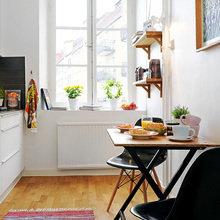 Фотография: Кухня и столовая в стиле Скандинавский, Современный, Малогабаритная квартира, Квартира, Швеция, Дома и квартиры – фото на InMyRoom.ru