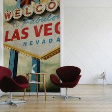 Фотография: Мебель и свет в стиле Лофт, Декор интерьера, Декор дома, Обои, Стены – фото на InMyRoom.ru