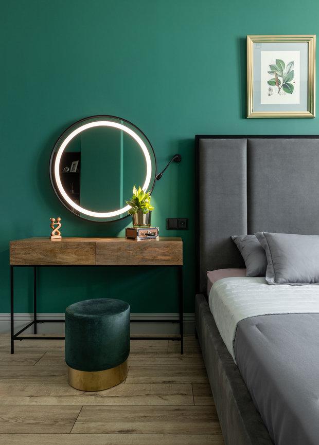 Фотография: Спальня в стиле Современный, Эклектика, Квартира, Проект недели, 3 комнаты, Более 90 метров, AK Studio, Нур-султан – фото на INMYROOM