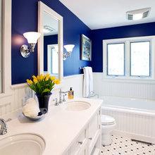 Фотография: Ванная в стиле Кантри, Квартира, Аксессуары, Декор, Мебель и свет, Ремонт на практике, Гид – фото на InMyRoom.ru