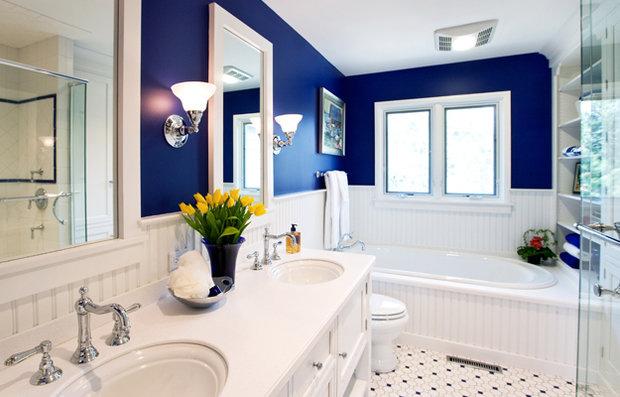 Фотография: Ванная в стиле Прованс и Кантри, Квартира, Аксессуары, Декор, Мебель и свет, Ремонт на практике, Гид – фото на InMyRoom.ru