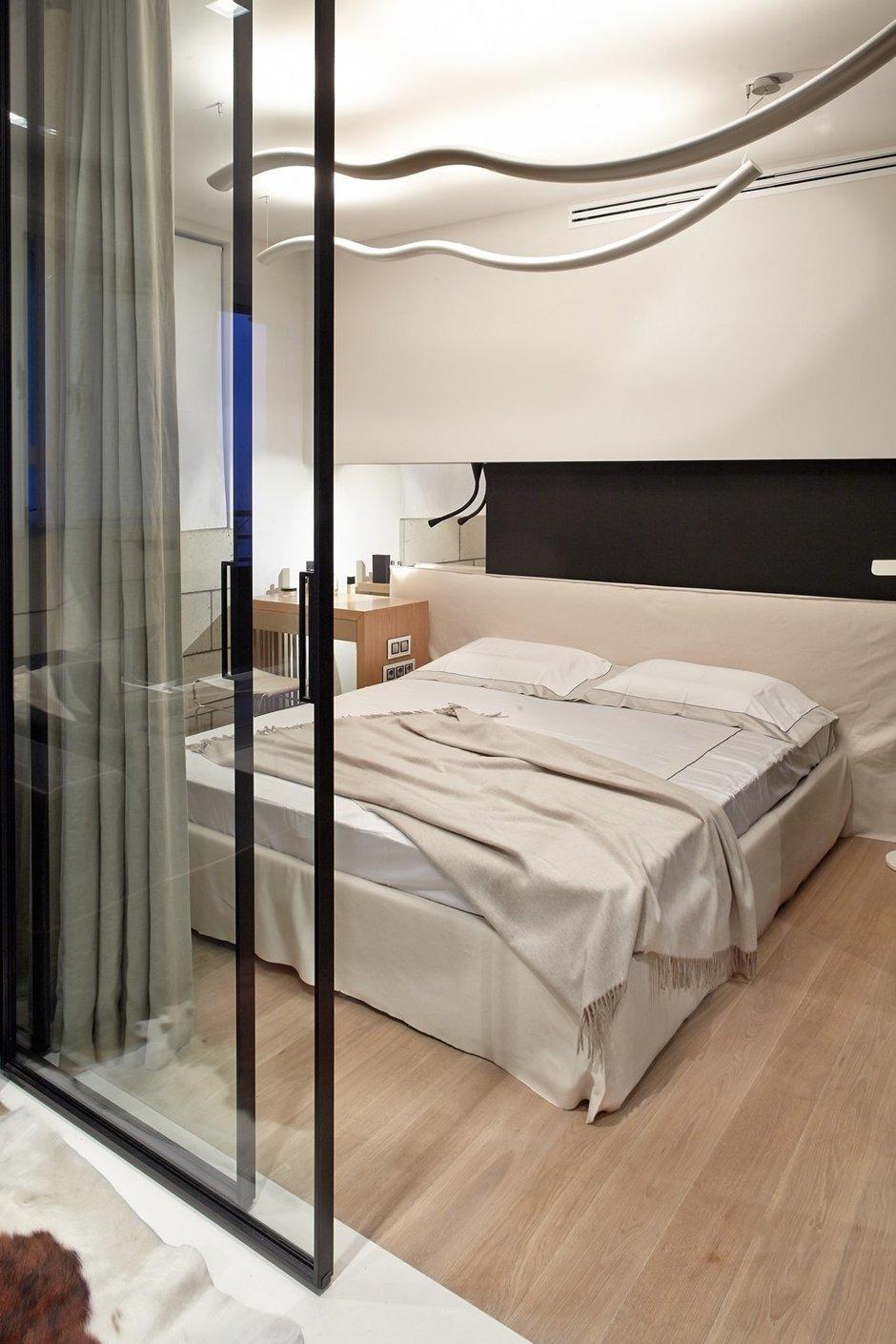 Фотография: Спальня в стиле Современный, Малогабаритная квартира, Квартира, Украина, Дома и квартиры, Киев – фото на InMyRoom.ru