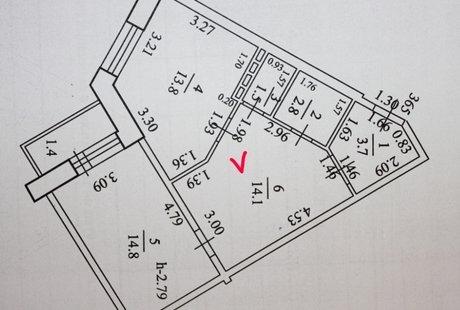 """Зонирование комнаты """"шутка архитектора"""""""