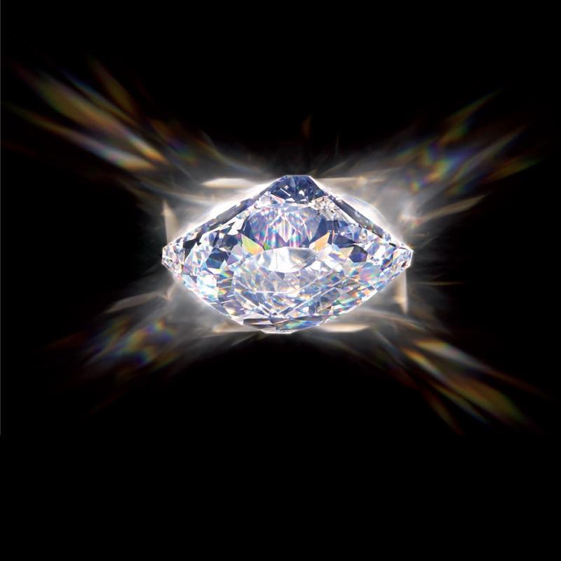 Встраиваемый светильник Swarovski Downsquare из хрусталя с бриллиантовой огранкой