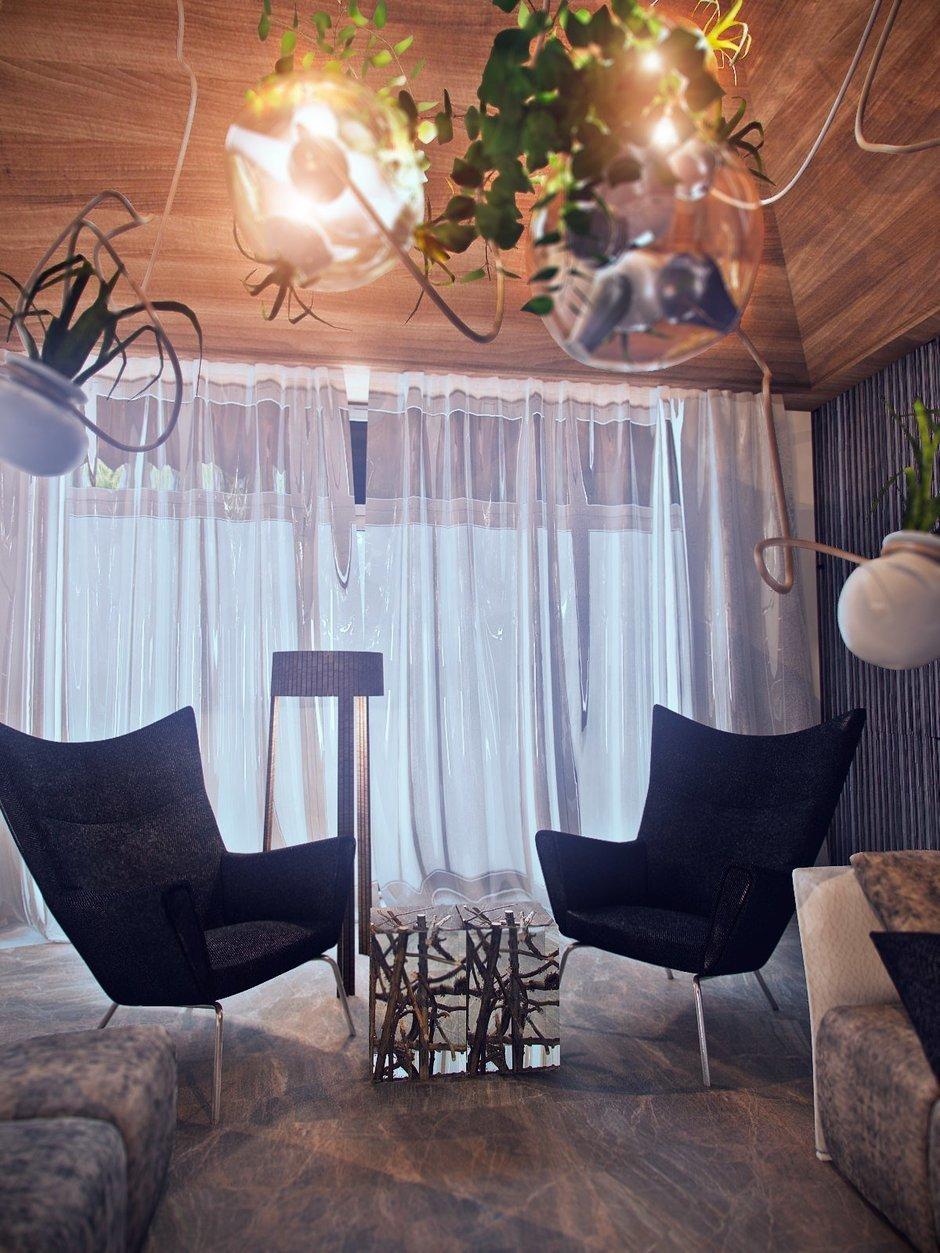 Фотография: Гостиная в стиле Лофт, Эклектика, Дом, Минимализм, Проект недели, Эко – фото на InMyRoom.ru