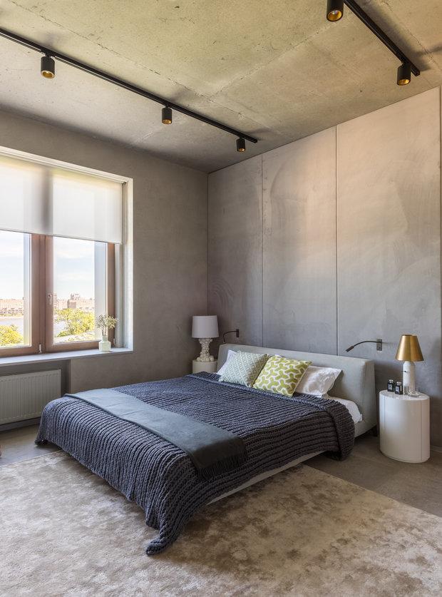 Фотография: Спальня в стиле Лофт, Квартира, Проект недели, Санкт-Петербург, Монолитный дом, ЖК «Смольный парк», 3 комнаты, Более 90 метров, MK-Interio – фото на INMYROOM