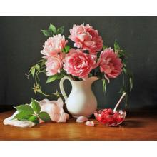 """Стильная картина для декора стен """"Розовые астры"""""""