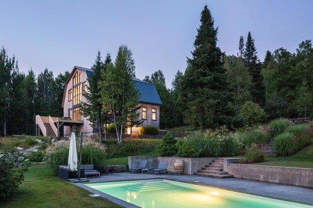 Фотография: Ландшафт в стиле , Лофт, Современный, Канада, Белый, Бежевый, Серый, Эко, Дом и дача – фото на INMYROOM
