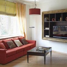 Фотография: Гостиная в стиле Современный, Эклектика, Минимализм, Классический, Квартира, Проект недели – фото на InMyRoom.ru