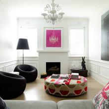 Фотография: Гостиная в стиле Эклектика, Декор интерьера, Декор дома, Цвет в интерьере, Белый, Бассейн – фото на InMyRoom.ru