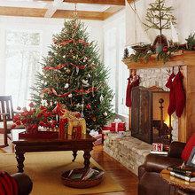 Фотография: Гостиная в стиле Кантри, Декор интерьера, Дом, Праздник – фото на InMyRoom.ru