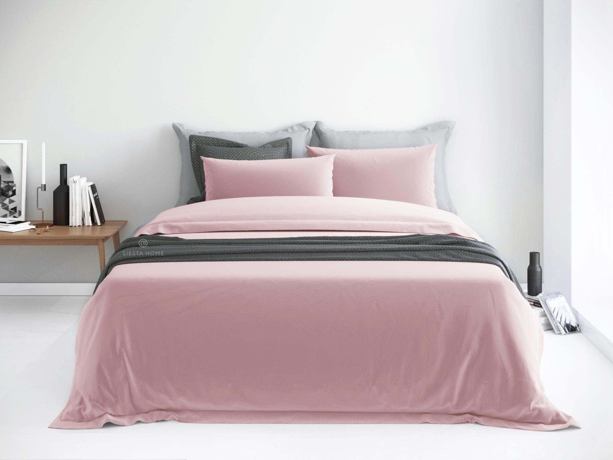 Комплект постельного белья цвета пыльная роза стандарт