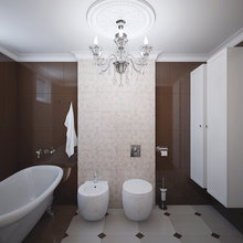 Фотография: Ванная в стиле Классический, Современный, Дом, Цвет в интерьере, Дома и квартиры, Белый, Проект недели – фото на InMyRoom.ru
