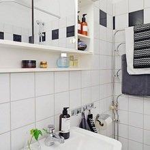 Фотография: Ванная в стиле Современный, Квартира, Цвет в интерьере, Дома и квартиры, Белый, Камин – фото на InMyRoom.ru