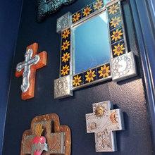 Фотография: Декор в стиле Кантри, Ванная, Декор интерьера, Малогабаритная квартира, Интерьер комнат – фото на InMyRoom.ru