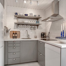 Фотография: Кухня и столовая в стиле Скандинавский, Советы, Белый, Дом и дача – фото на InMyRoom.ru