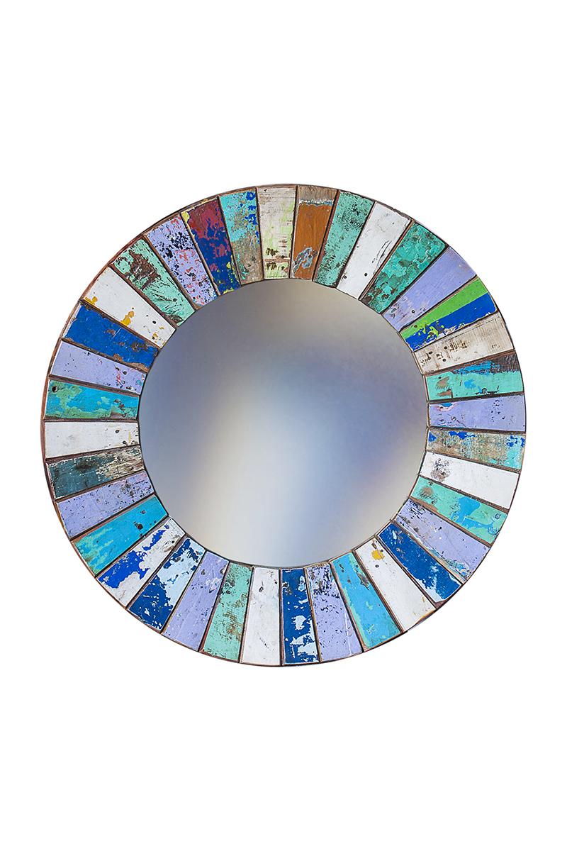 Настенное зеркало круглое Колобок