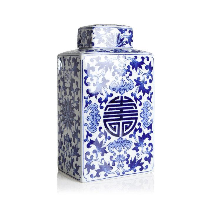 Фарфоровая ваза Loca Nera CHINESE PATTERN