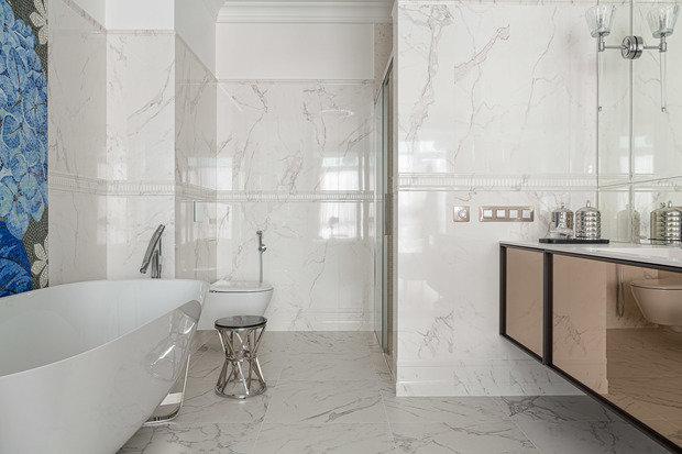 Фотография: Ванная в стиле Классический, Современный, Квартира, Проект недели, 3 комнаты, Более 90 метров, Иркутск, Мария Бадяева – фото на INMYROOM