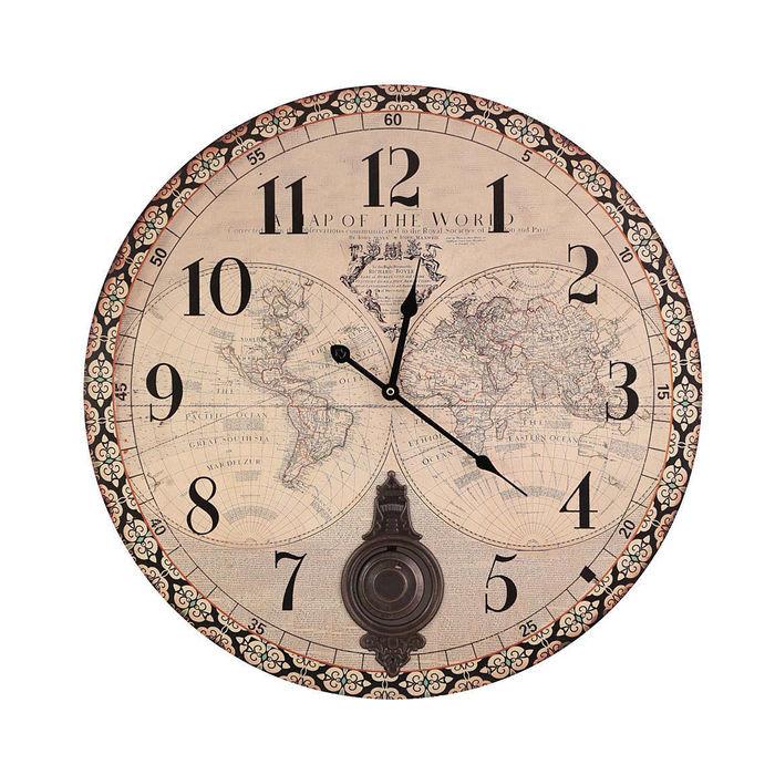 """Настенные часы """"Карта"""""""