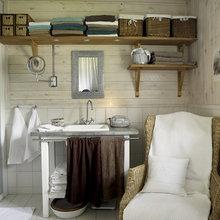 Фотография: Ванная в стиле Скандинавский, Дом, Дома и квартиры, Большие окна, Дом на природе – фото на InMyRoom.ru