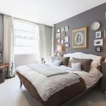 Фотография: Спальня в стиле Кантри, Квартира, Терраса, Дома и квартиры, Лондон, Пентхаус – фото на InMyRoom.ru