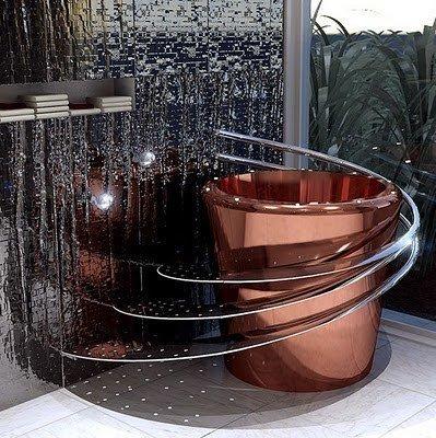 Фотография: Ванная в стиле Современный, Хай-тек, Интерьер комнат, Подсветка, Ванна – фото на INMYROOM