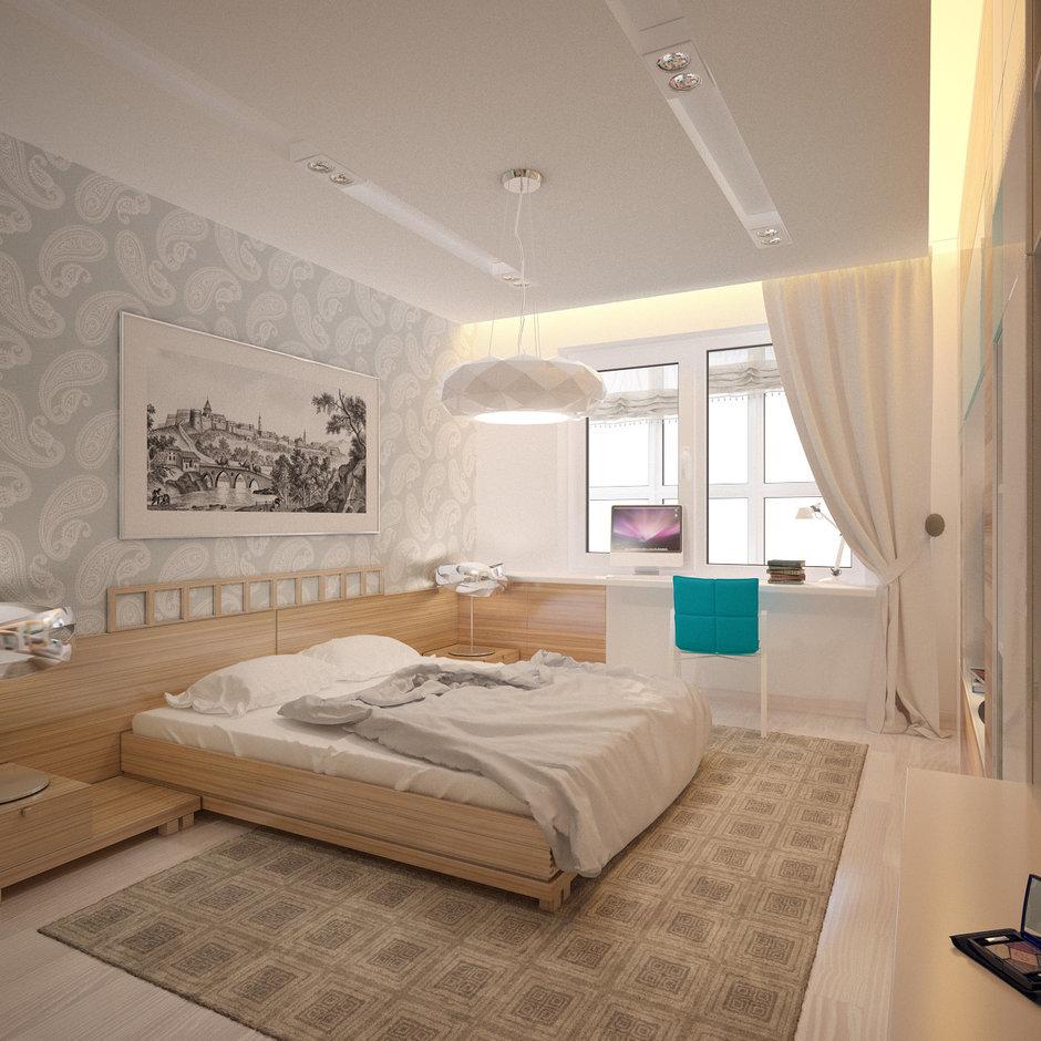Фотография: Спальня в стиле Современный, Эклектика, Квартира, Проект недели – фото на InMyRoom.ru