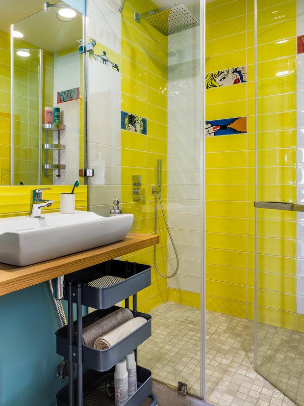 Фотография: Ванная в стиле Лофт, Квартира, Проект недели, Самара, 1 комната, до 40 метров, Екатерина Малмыгина – фото на INMYROOM