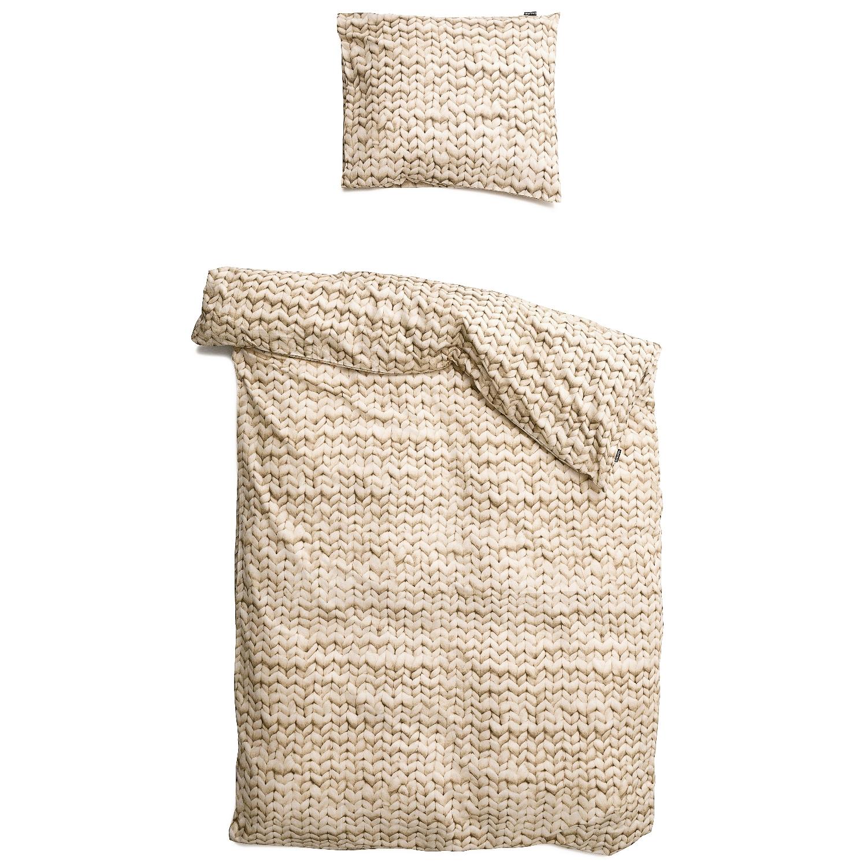 Купить Комплект постельного белья Косичка 150х200 бежевый фланель, inmyroom, Нидерланды