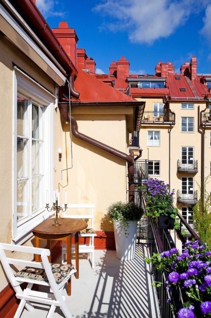 Фотография: Балкон, Терраса в стиле Скандинавский, Лофт, Малогабаритная квартира, Квартира, Дома и квартиры – фото на InMyRoom.ru