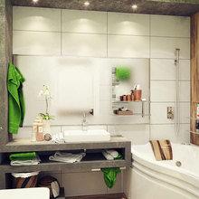 Фотография: Гостиная в стиле Эко, Ванная, Декор интерьера, Интерьер комнат – фото на InMyRoom.ru