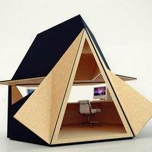 Фотография: Архитектура в стиле , Кабинет, Малогабаритная квартира, Офисное пространство, Интерьер комнат – фото на InMyRoom.ru