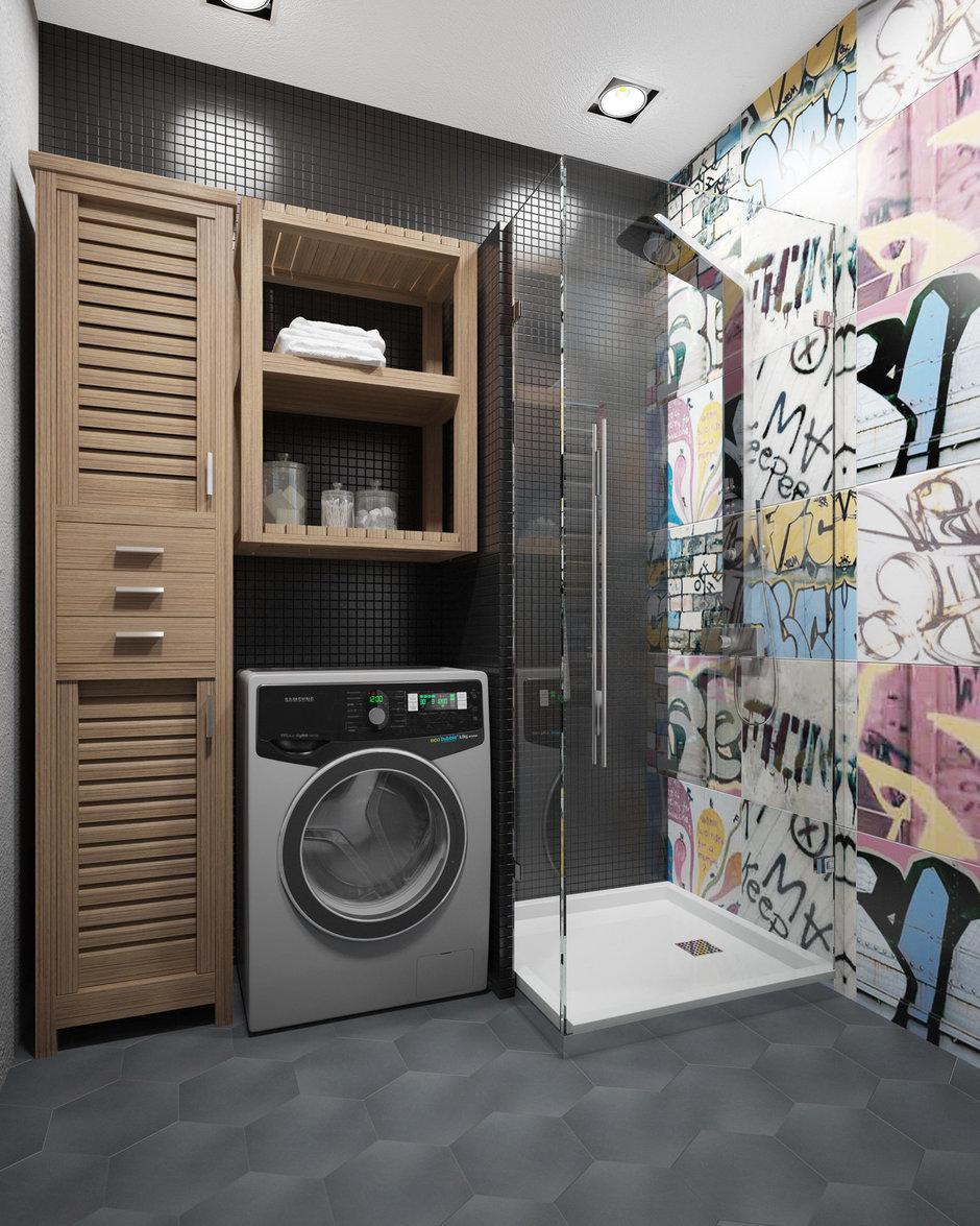 Фотография: Ванная в стиле Лофт, Проект недели, П-3М, GM-Interior – фото на InMyRoom.ru
