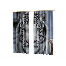 Стильные фотошторы: Белый тигр