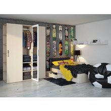 """Кровать """"City"""" с мягким изголовьем и двумя выдвижными ящиками 120х200 см"""