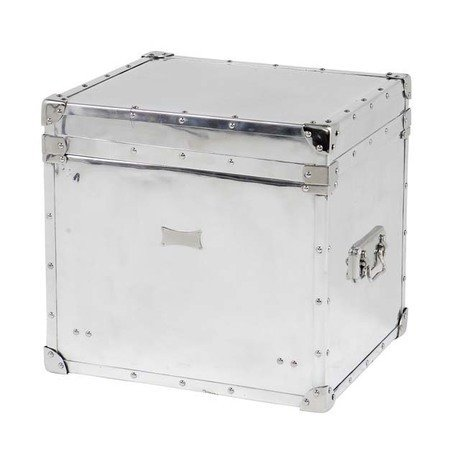 """Сундук Eichholtz """"Flightcase Parler"""" из полированного алюминия 54x51x58 см"""