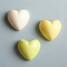 Набор мини-кашпо heart желтый/белый/зеленый