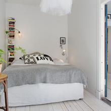 Фотография: Спальня в стиле Скандинавский, Кантри, Малогабаритная квартира, Квартира, Дома и квартиры, Стокгольм – фото на InMyRoom.ru