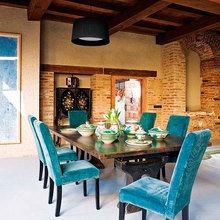Фотография: Кухня и столовая в стиле Кантри, Лофт, Декор интерьера, Дизайн интерьера, Цвет в интерьере, Белый, Серый, Бирюзовый – фото на InMyRoom.ru
