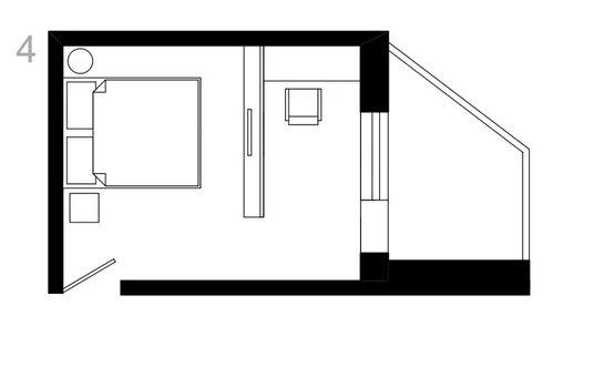 Фотография:  в стиле , Спальня, Планировки, Советы, Руслан Кирничанский, П44т – фото на InMyRoom.ru