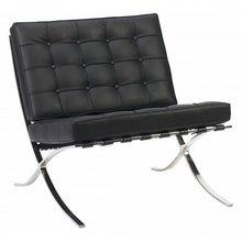 Кресло Barcelona Chair Черного цвета