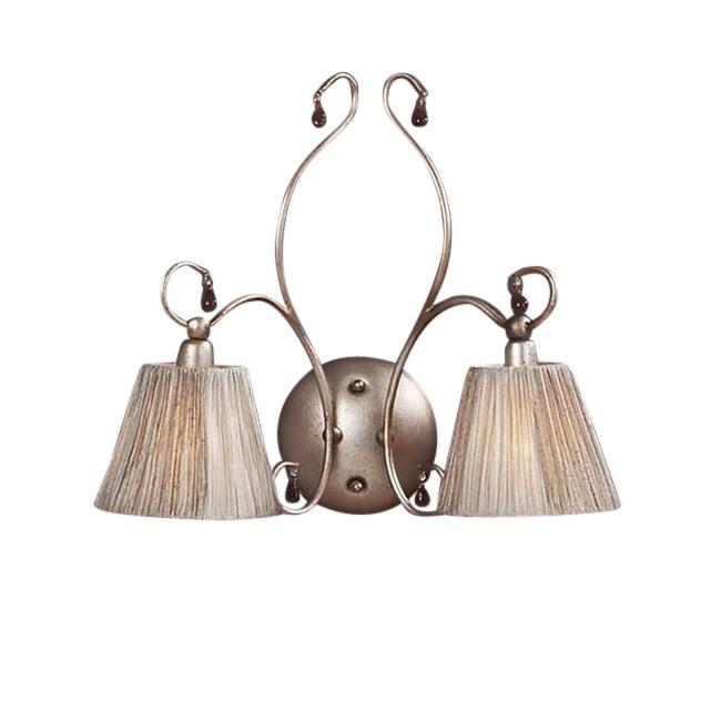 Купить Бра Schuller Salma с покрытием Состаренное позолоченное серебро и подвесками аметистового цвета, inmyroom, Испания