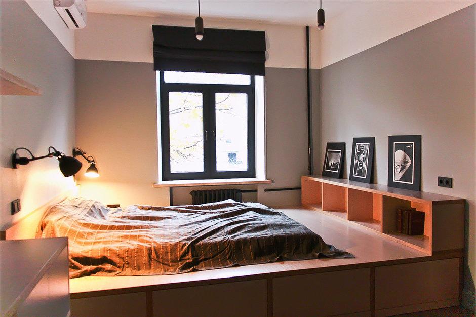 Фотография: Спальня в стиле Лофт, Квартира, Дома и квартиры, Минимализм, Проект недели – фото на InMyRoom.ru