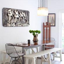 Фотография: Кухня и столовая в стиле Скандинавский, Современный, Декор интерьера, Мебель и свет, Стол – фото на InMyRoom.ru