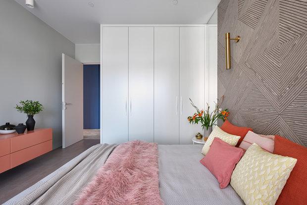 Фотография: Спальня в стиле Современный, Квартира, Проект недели, Москва, 2 комнаты, 60-90 метров, Валерия Москалева – фото на INMYROOM