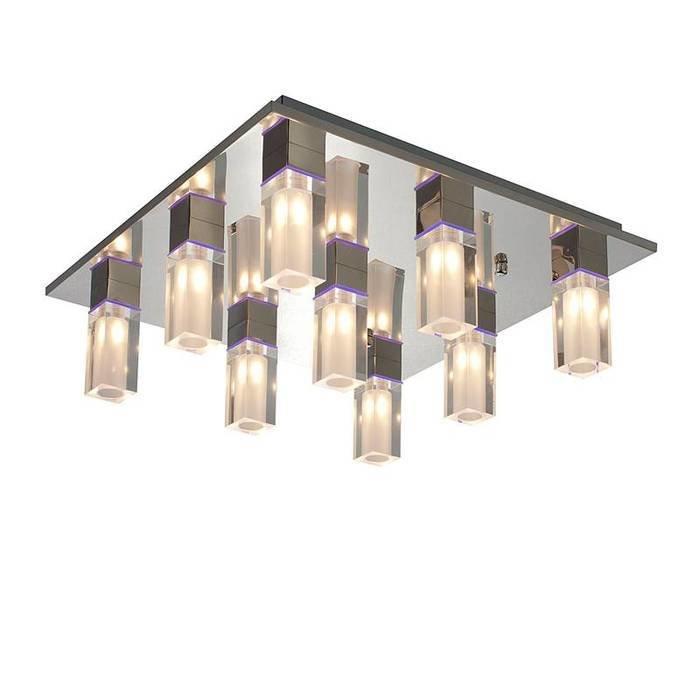 Потолочная люстра Luce Solara Moderno Chrome Crystal