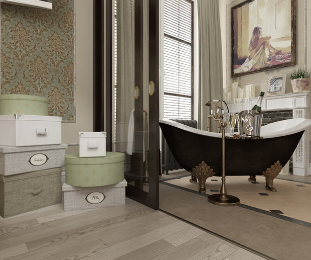 Фотография: Ванная в стиле Прованс и Кантри, Классический, Дом, Дома и квартиры, Прованс, Проект недели – фото на InMyRoom.ru