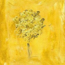 Картина (репродукция, постер): Yellow tree - Ноэмия Прада